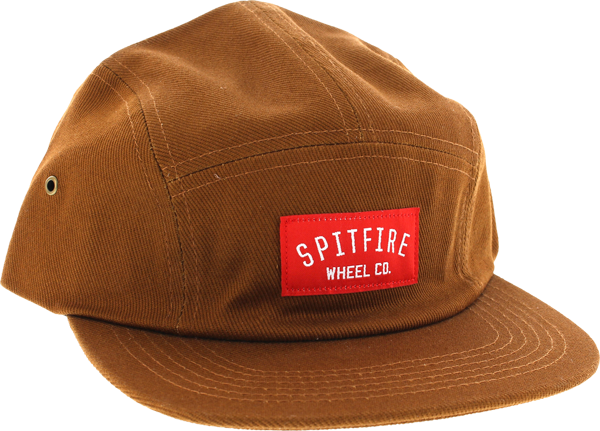 Sf Wheel Co Label Camper 5P Hat Adj-Brown