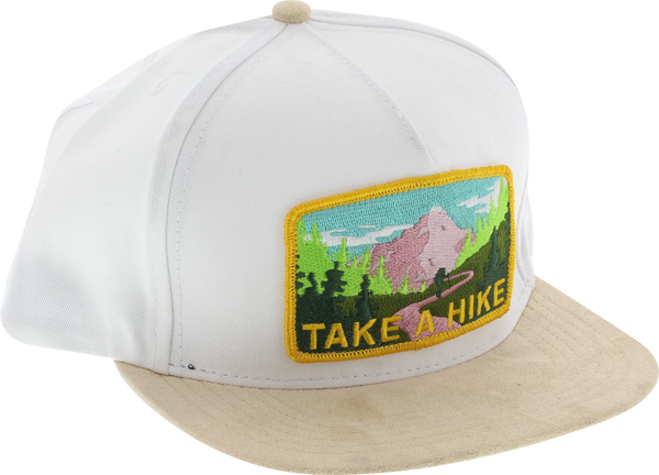 Skate Mental Take A Hike Hat Adj-White/Brn Suede