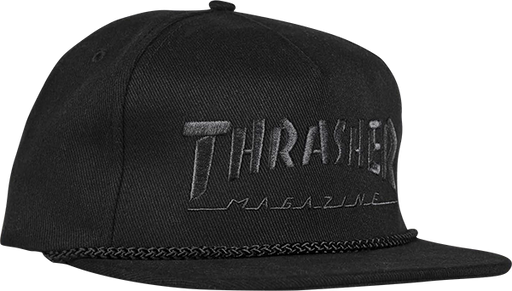 Thrasher Rope Hat Adj-Black/Black