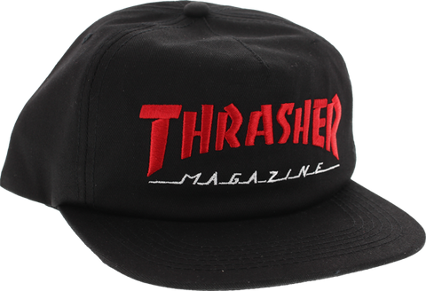 Thrasher Two Tone Mag Logo Hat Adj-Blk/Red