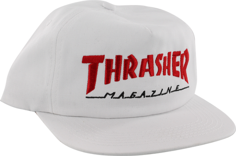 Thrasher Two Tone Mag Logo Hat Adj-Wht/Red