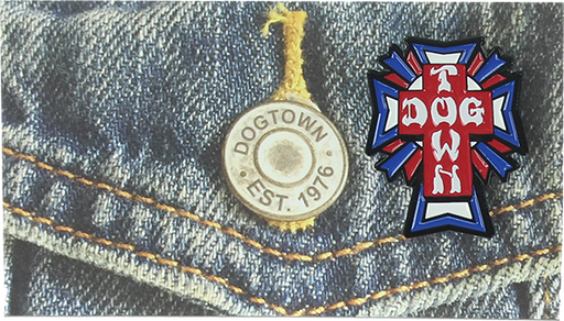 Dogtown Cross Logo Color Enamel Pin