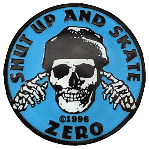 Zero Shut Up And Skate Enamel Pin Blue/Blk