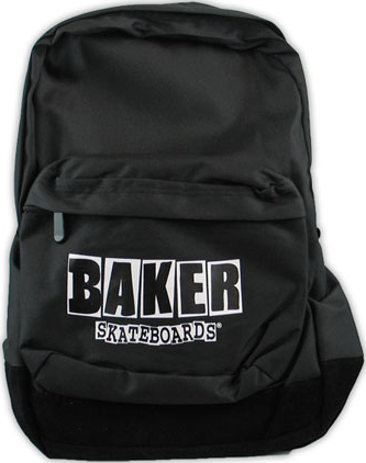 Baker Brand Logo Backpack Black