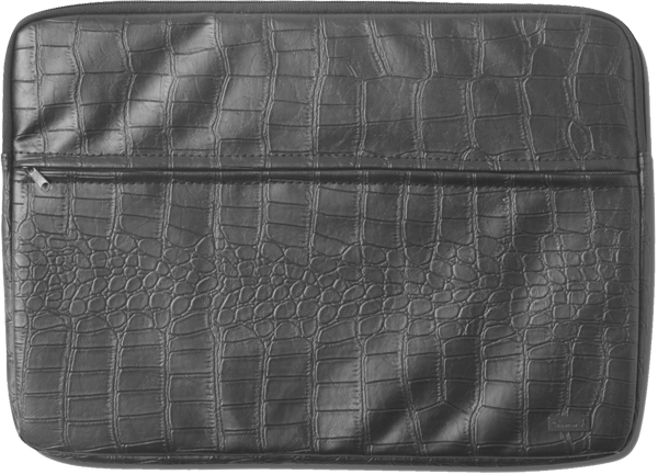 Diamond Croc Laptop Bag Black