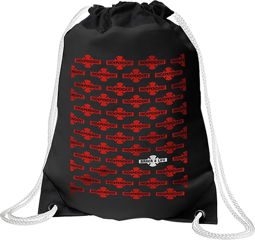 Inde Baker 4 Life Cinch Sack Black/Red