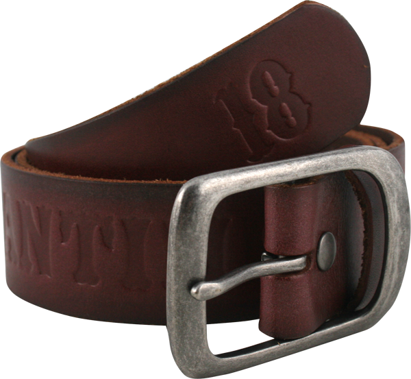 Ah Pieced Belt S-Brown