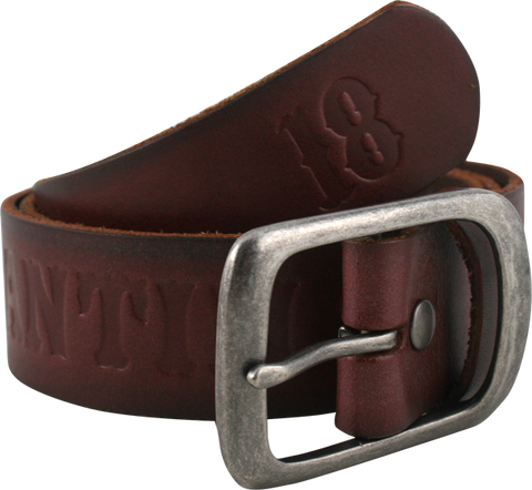 Ah Pieced Belt M-Brown