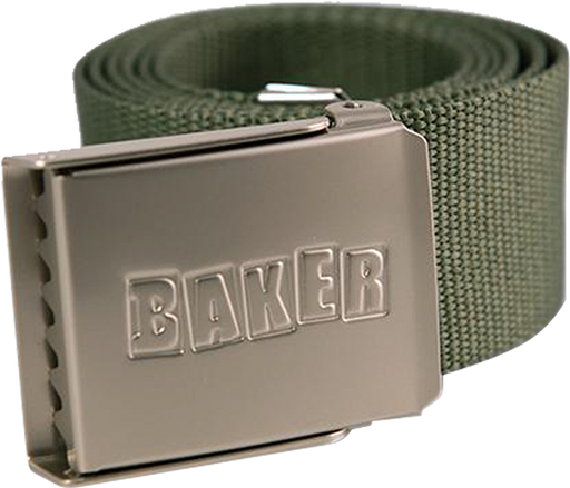 Baker Brand Logo Web Belt Forest Green