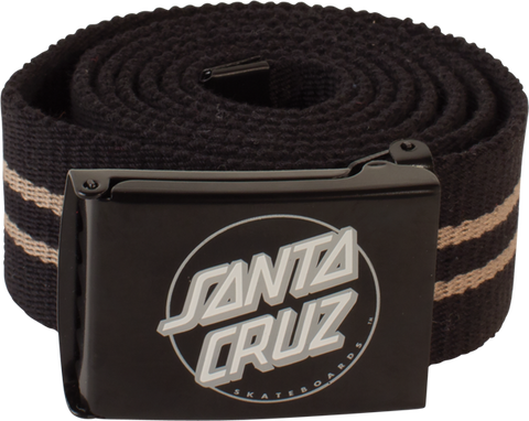 Sc Striped Dot Web Belt Blk/Sil