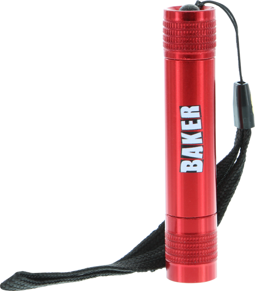 Baker Brand Logo Mini Flashlight Red