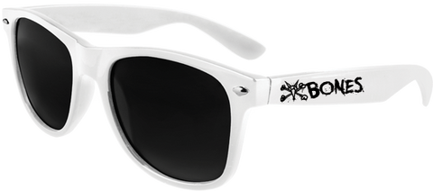 Bones Vato Rat Text Sunglasses White
