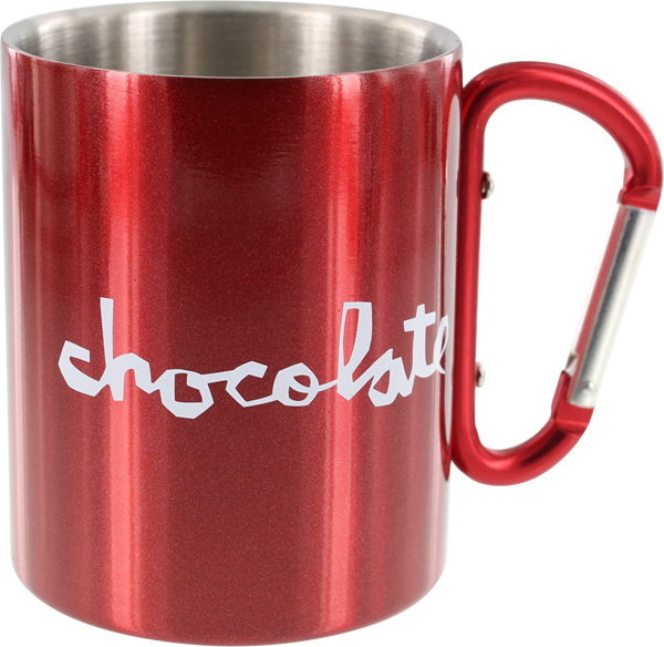 Choc Carribiner Mug Metallic Red