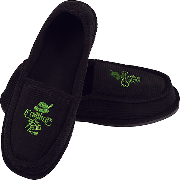 Creature Car Club Slip On Creepers Blk/Grn Size 9