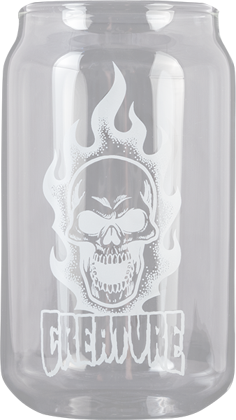 Creature Bonehead Beer Can Pint Glass