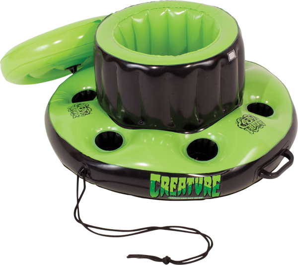 Creature Swim Club Floating Cooler Blk/Grn