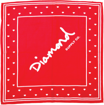 Diamond Og Script Bandana Red
