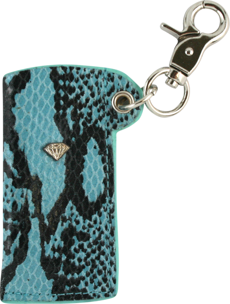 Diamond Snakeskin Lighter Sleeve Diamond Blue/Sil