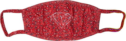 Diamond Face Mask - Bandana Red