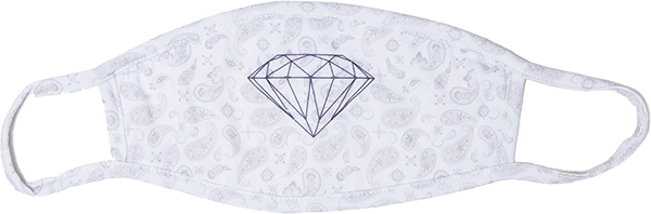 Diamond Face Mask - Bandana Wht