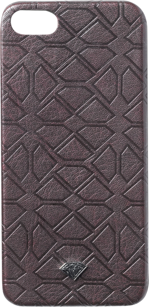 Diamond Split Leather Iphone5 Case Burgundy