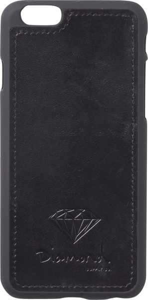 Diamond Iphone-6 Leather Case Black