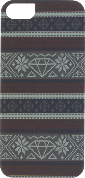 Diamond Iphone5 Fairisle Case Burgundy