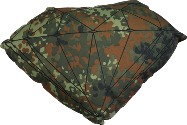 Diamond Brilliant Pillow Camo