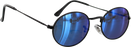 Glassy Campbell Blk/Blu Mirror Sunglasses Polarize