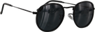 Glassy Hudson Matte Black Sunglasses Polarized