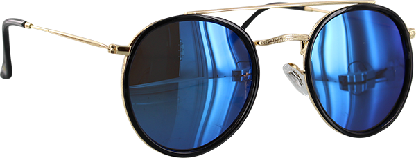 Glassy Parker Blk/Gold/Blu Sunglasses Polarized