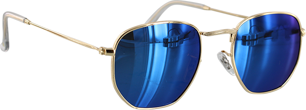 Glassy Turner Gold/Blu Mirror Sunglasses Polarized