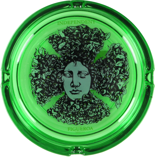 Inde Figgy Medusa Ashtray Green