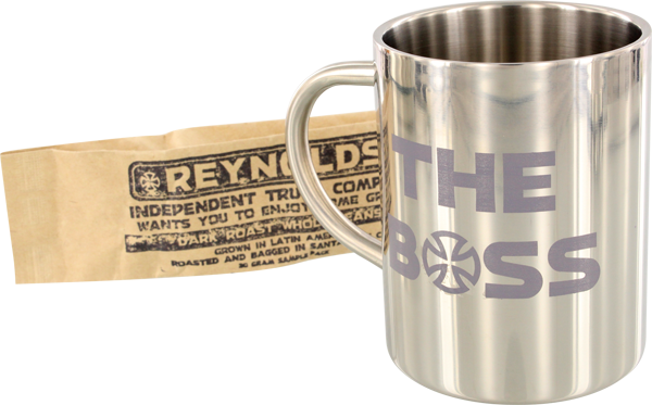 Inde Reynolds Boss Mug Stainless Silver