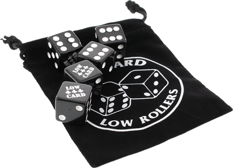 Lowcard Rollers Dice Set Black
