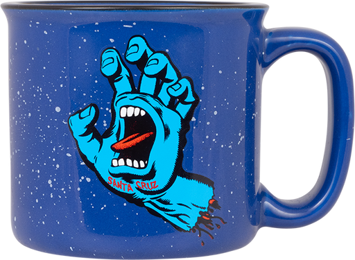 Sc Screaming Hand Mug Speckle Blue
