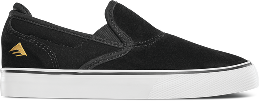 Emerica Youth Wino G6 Slip On - Black/White/Gold