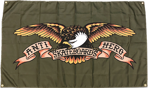 Ah Eagle Banner Army Green
