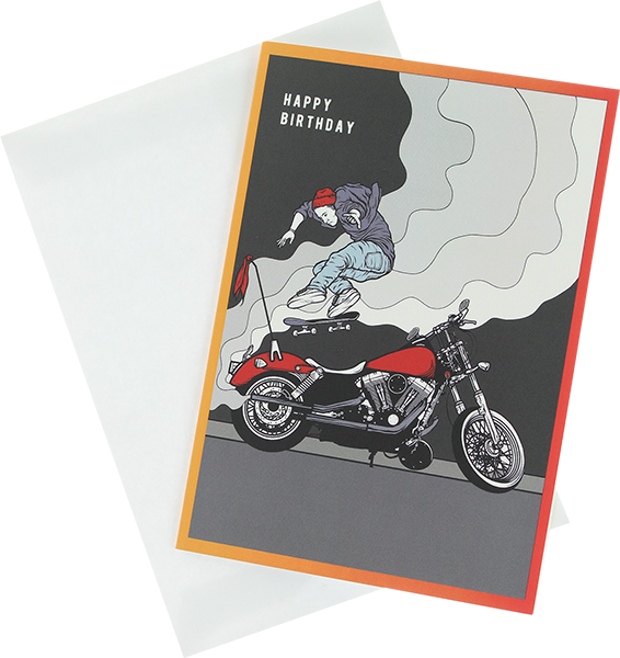 Color-X Skateboarding Birthday Greeting Card