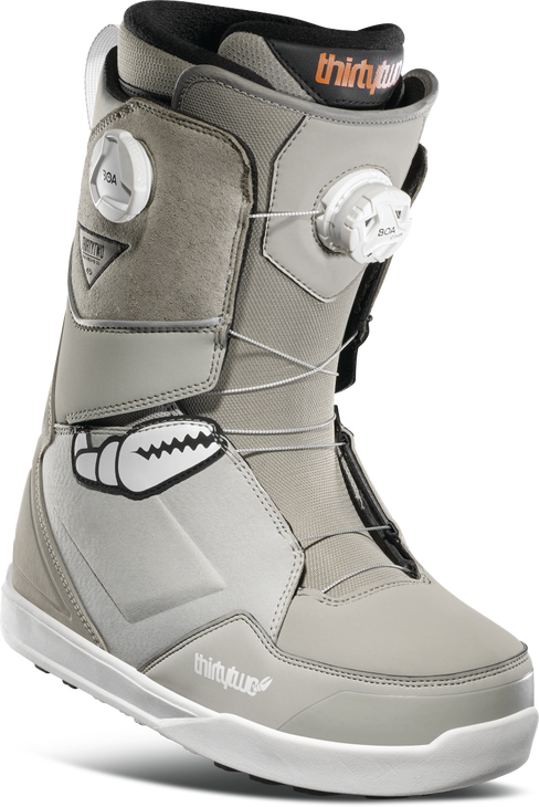 ThirtyTwo Lashed Double BOA Crab Grab Snowboard Boots - Grey
