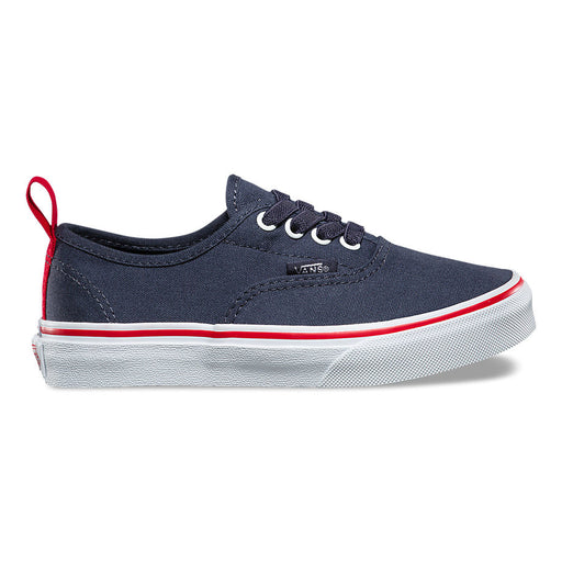 Vans Kids Pop Authentic Elastic Lace Shoes - Parisian Night/Racing Red