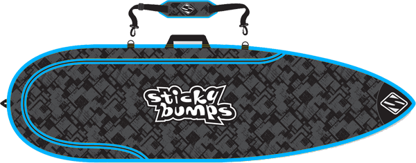 Sb Single Day Bag 5'8 Thruster Blk/Blu/Reflective