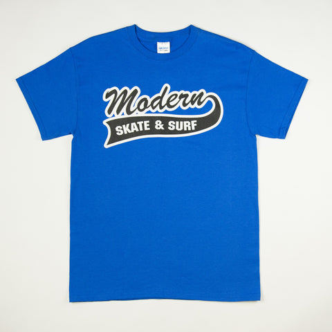 Modern Baseball Logo T - Royal Blue