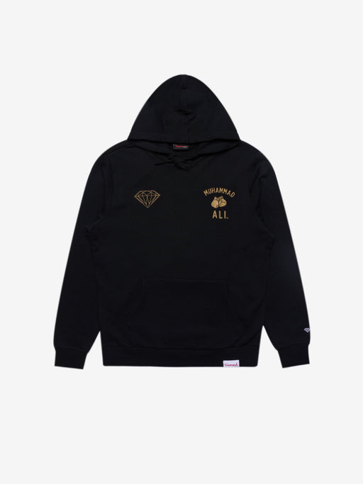 Diamond X Ali Fight Hoodie - Black/Gold