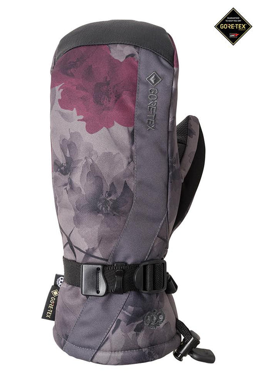 686 Women's Gore-Tex Linear Mitt - Charcoal Xray Floral