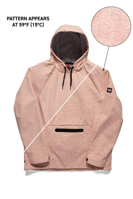 686 Hyperchromic Waterproof Hoodie - Dusty Pink (2021)