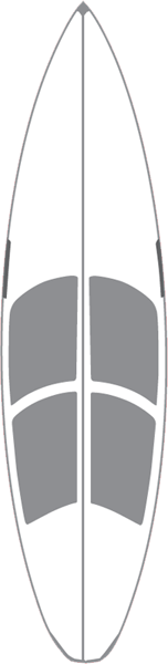 "Hawaiian Hotgrip Wax Mat 6'0"" Shortboard"