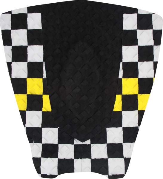 Stc 3Pc Shortboard Checker-Blk/Wht/Yel Traction