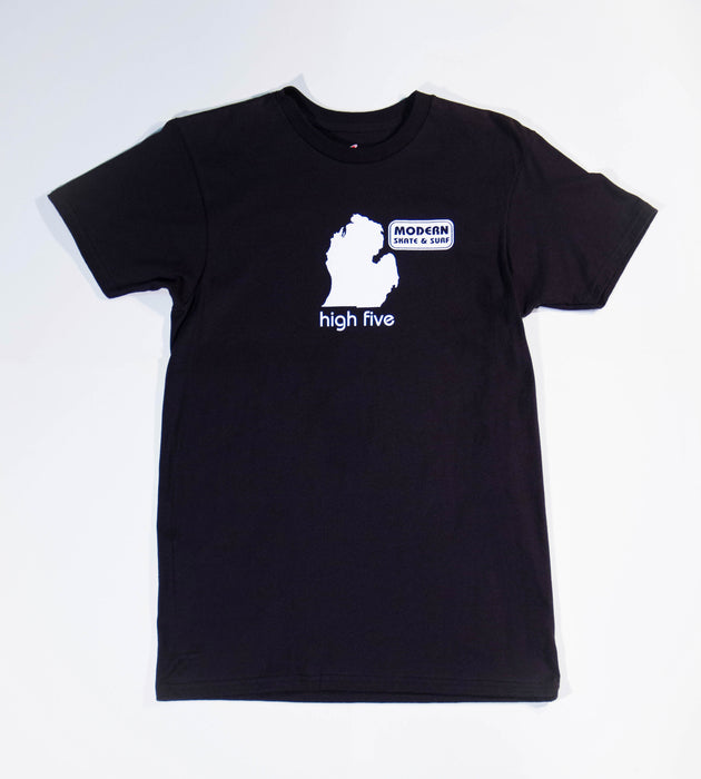 Modern High Five Tee Shirt - Black