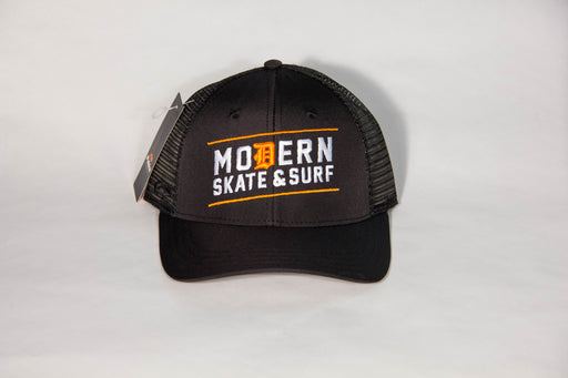 Modern Trucker hat cotton Black
